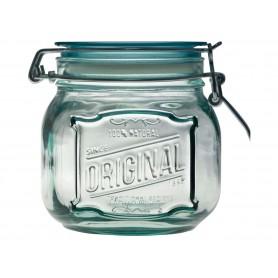 "Tarro hermético de cristal 100% reciclado ""Original"" de 0,8l."