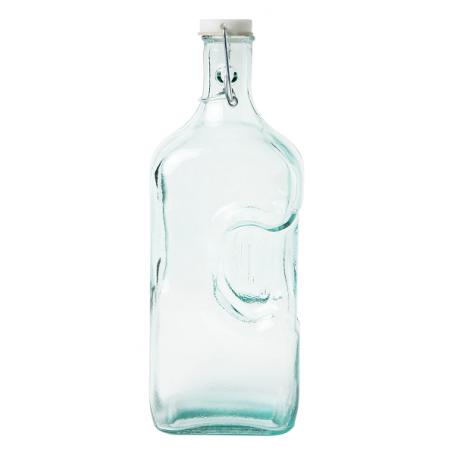 Botella de frigorífico de cristal reciclado de 2l.