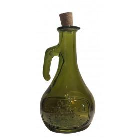 """Aceitera """"olio extravergine"""" de cristal reciclado de 0,5l."""