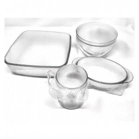 Set de tapas de silicona cuadradas adaptables (4ud.)