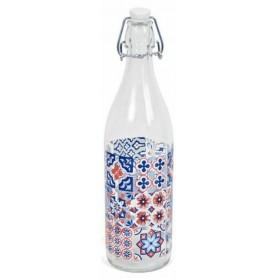 Botella de cristal decorada 1l.
