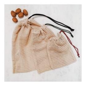 Bolsa de red de algodón orgánico (35x29)