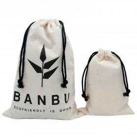 Sacos de algodón natural para la compra (Pack de 5 ud.)